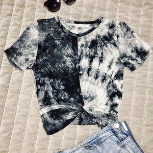 Ragstock Heart & Hips Tie Dye Crop T-shirt